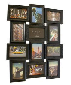 Loving this Black 12-Picture Bold Collage Frame on #zulily! #zulilyfinds
