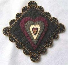 Penny Rugs. Love.  Heart.