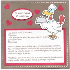 Recipe for Chicken Salad Sandwiches by SybilMcC - Cards and Paper Crafts at Splitcoaststampers