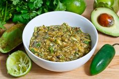 Looks Delic! Avocado and Roasted Tomatillo Salsa