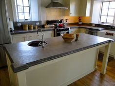 DIY Concrete Counter tops.  Learn how to easily create beautiful decorative concrete countertops for your home.  Z Counterform