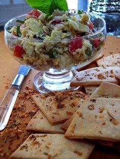 Lavash Crackers with Artichoke Salad
