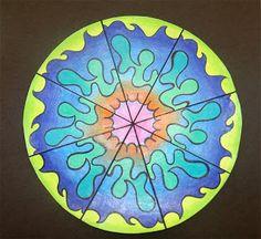 rotat symmetri, math art, drawing projects, sixth grade, splash splatter, colored pencils, design, art projects, splish splash