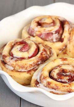 Bacon Cinnamon Rolls. My husband will love me forever ;)