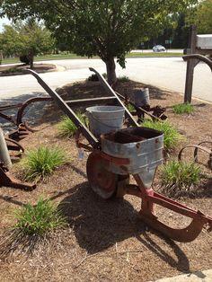 Vintage farm plow