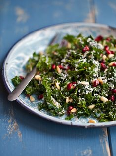 Kale Salad with Balsamic and Pomegranate