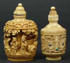 xx..tracy porter..poetic wanderlust...- CHINESE RELIEF CARVED SNUFF BOTTLES