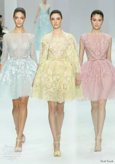 Elie Saab Spring/Summer pastel palette reminiscent of all things delicious and lovely — macarons, dragees and cupcake frosting.