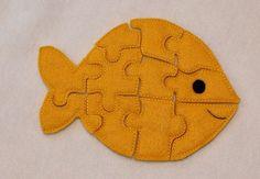 Felt fish puzzle