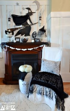 Create a festive Halloween mantel that everyone will love!