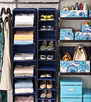 ::: containerstore.com :::  Great storage solutions for shelving and closets.