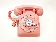 WORKING Pink Rotary Phone 60s by TheRotaryShoppe on Etsy --> NEED ONE! #madmenalldayerrday