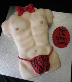 Sexy Man's Torso Cake