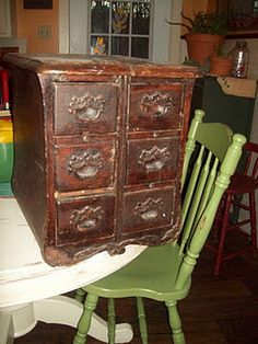 Great blog (its just my imagination) with ideas for reusing sewing machine drawers