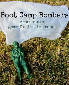 Fun gross motor game for kids , perfect for an army themed party too! How do you get your kids moving when they are not into it?