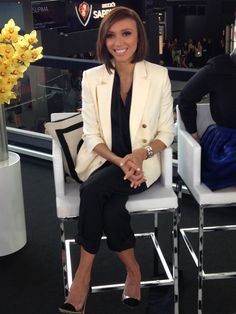GIULIANA RANCIC Jumpsuit: Monika Chiang Shoes: Gianvito Rossi Jewelry: Hermes