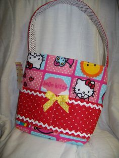 Hello Kitty Bible cover or crayon bag red and pink by civilwarlady, $16.95