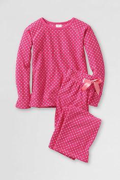 Girls' Fleece Pajama Set from Lands' End