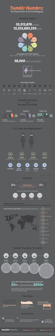Tumblr Numbers: The Rapid Rise of Social Blogging #Infographics