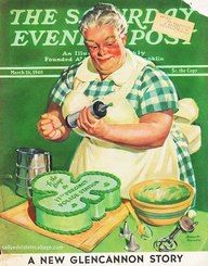 St. Patrick's Day-Saturday evening post cover cake, magazine covers, vintage illustrations, norman rockwell, the saturdays, st patricks day, vintag st, clover, stpatrick