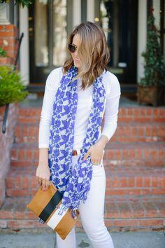 love the blue against white for summer