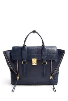 #LUST ink shark embossed leather pashli satchel by 3.1 Phillip Lim