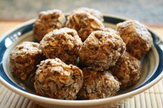 Energy Bites. Like a no bake cookie. Soooo delicious! So healthy! Almond butter, oats, sunflower seeds, ground flaxseed, chia seeds, honey, and unsweetened coconut flakes. Awesome snack for Virgin Diet!