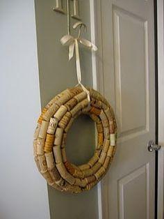 wine corks, cork craft, cork wreath