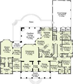 What a great floor plan! I CAN DREAM CAN'T I !!!