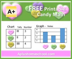 A+ Homeschool : FREE Printable Candy Math for Valentines Day