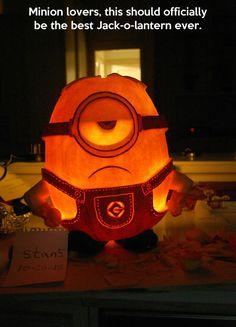 Minion pumpkin…