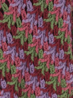 Stitch Pattern from the Christmas Country Wrap, a free crochet pattern from Caron.com. You had me at stitch pattern. :-)