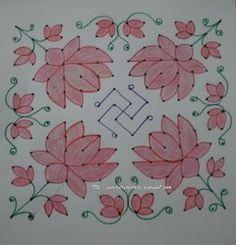 Lotus and Swastika- for Lakshmi Pooja