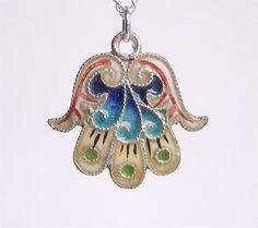Hamsa / Hand of Fatima necklace (from solisjewelry) #hamsa