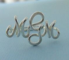 For Me! MOK.  Handcrafted Monogram Ring (SS). $36.50, via Etsy.