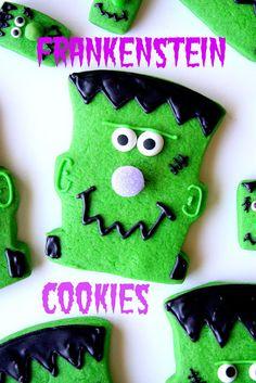 Cute Frankenstein Cookies · Edible Crafts | CraftGossip.com
