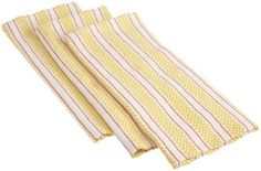 Mahogany Basketweave Kitchen Towels with Contrasting Stripe, Set of 3, Yellow by Mahogany, http://www.amazon.com/dp/B003QXM2EA/ref=cm_sw_r_pi_dp_P7t1pb0SQD7SP