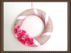 DIY Valentine's Day Wreath Easy & Quick Tutorial Burlap Wreath (+playlist)