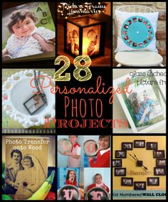 28 Personalized Photo Projects.  I love the view-finder pillow.  How awesome!