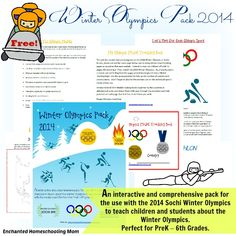 Free Olympics printable.