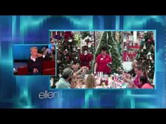 ▶ Michaels Tree Decorating with The Ellen DeGeneres Show - YouTube