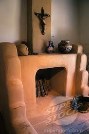 adobe fireplace Santa Fe NM