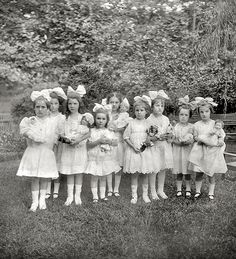 "Photograph of Little Girls and Dolls - ""Dorothy's party, Washington, D.C., July 22, 1913."""