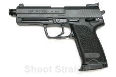 H&K  USP 45 Tactical, with threaded barrel.  These are fun to shoot, but hard to get