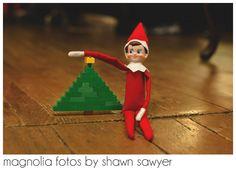 Elf on the Shelf, LEGO Christmas tree #elfontheshelf