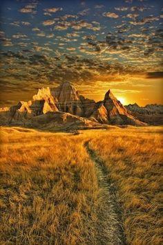 Sunrise at Badlands, South Dakota