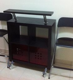 IKEA Hackers: Expedit Bar Table OR Kitchen Trolley