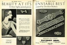 20s style continues on in this Davidson Bros. ad from our October 1930 issue #JCK #JCKMagazine