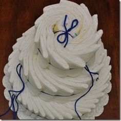 diaper cake tutorial....not rolled