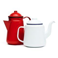 hedgehogshop enamel tea & coffee pots